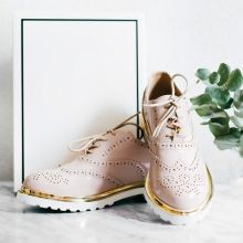 Nice Kicks Pink & Gold Brogues