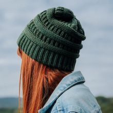 Urban Threads Knit Hat in Green