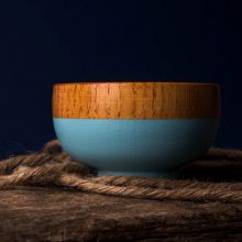 Wooden Bowl in Blue